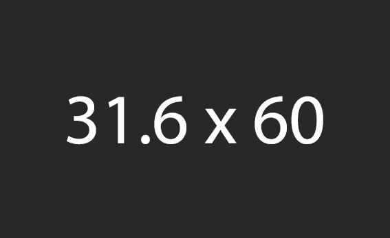 31.6x60