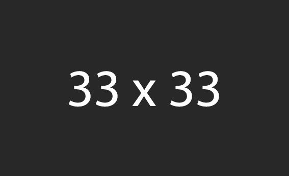33x33