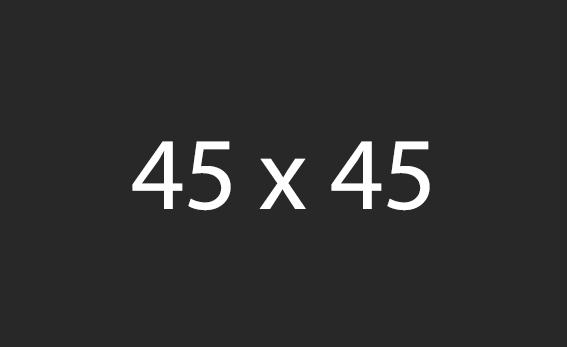 45x45