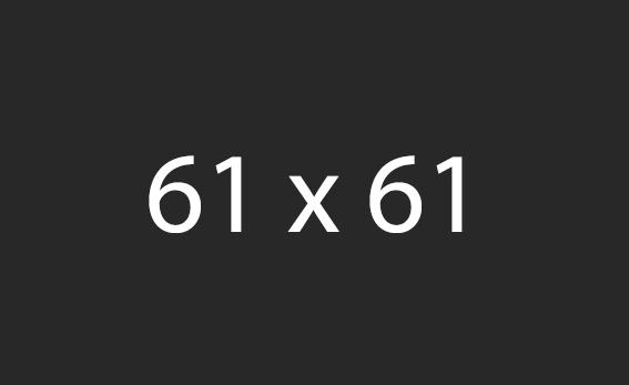 61x61